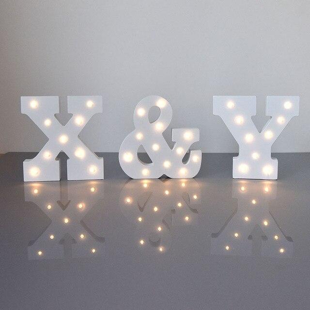 Baterai Dioperasikan LED Malam Lampu Lampu Tenda Huruf Lampu Vintage Abjad Light Up Natal Dekorasi Pesta Lampu Dinding
