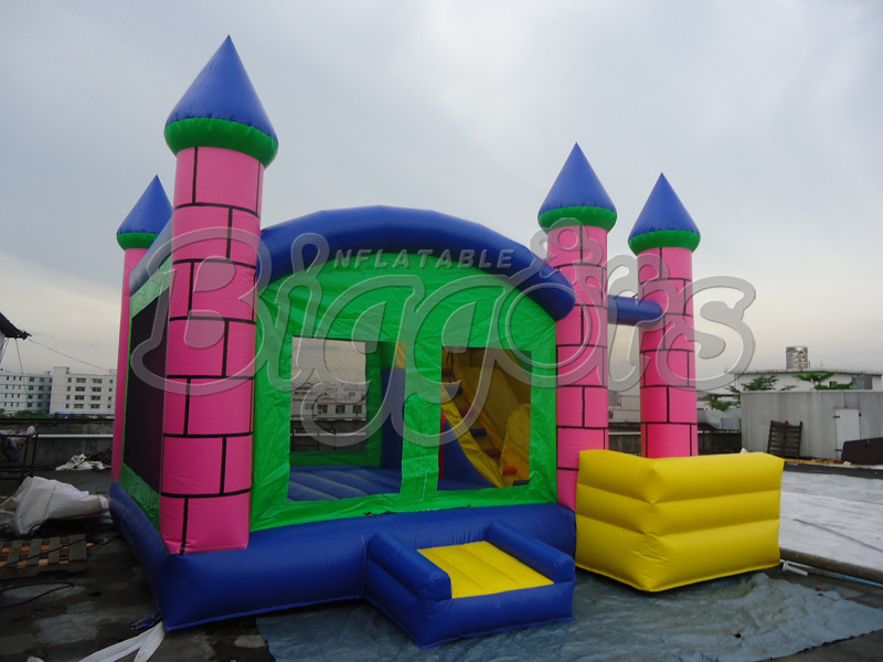 FREE SHIPPING BY SEA Indoor Kid Inflatable Bouncer Jumping Slide Bouncy Castle For Sale free shipping by sea kid inflatable bouncer for sale with inflatable slide