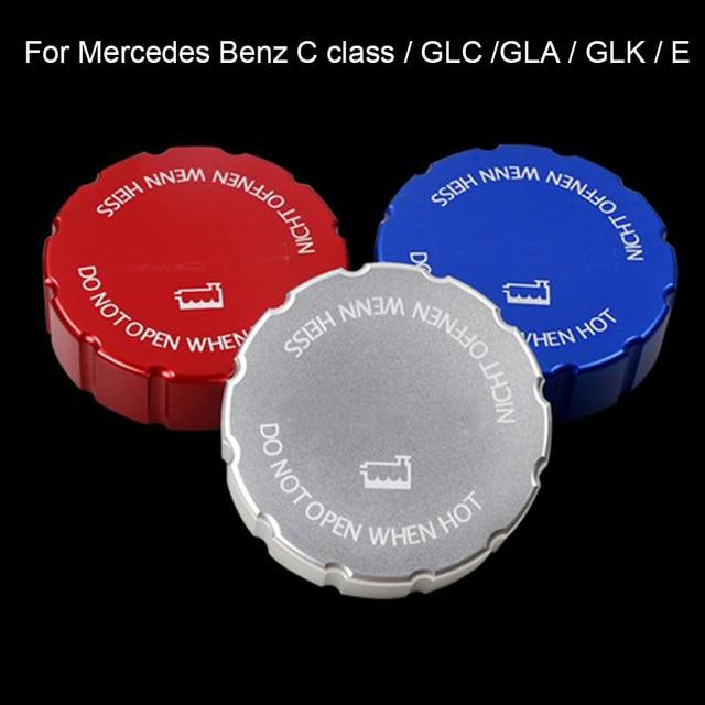 Aluminum Engine Oil Fuel water Tank Cap Cover Trim sticker For Mercedes Benz C class GLC GLA GLK E class