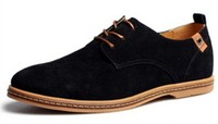 New 2015 Genuine Leather Suede Men Sneakers Outdoor Casual Oxford Shoes Plus Size 45 46 47