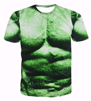 New Fashion Incredible Hulk T-Shirt Comics Super Hero poster-Sexy 3D T I T Shirt Divertente Muscle T Shirt Homme Casuale Tee Shirts Tops
