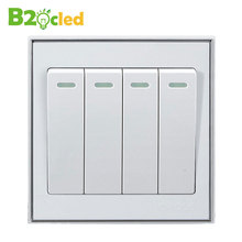 High quality White Wall switch supply four open control switch Home Furnishing lighting switch on /off 4 key power switch
