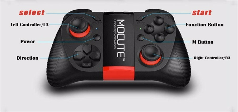 Hot!MOCUTE Wireless Bluetooth Games Handle 3.0 Controller Dual Joystick for Iphone and Android System & Laptop and VR 3D Glasses 2
