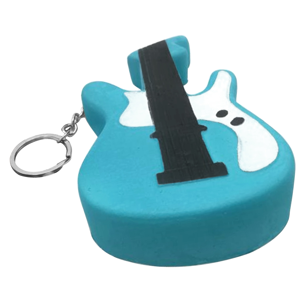 Satkago Slow Rising Squishy Toy Guitar Shape Relieves Stress Toy with Keychain for Children Adults Anxiety Attention Home Decor