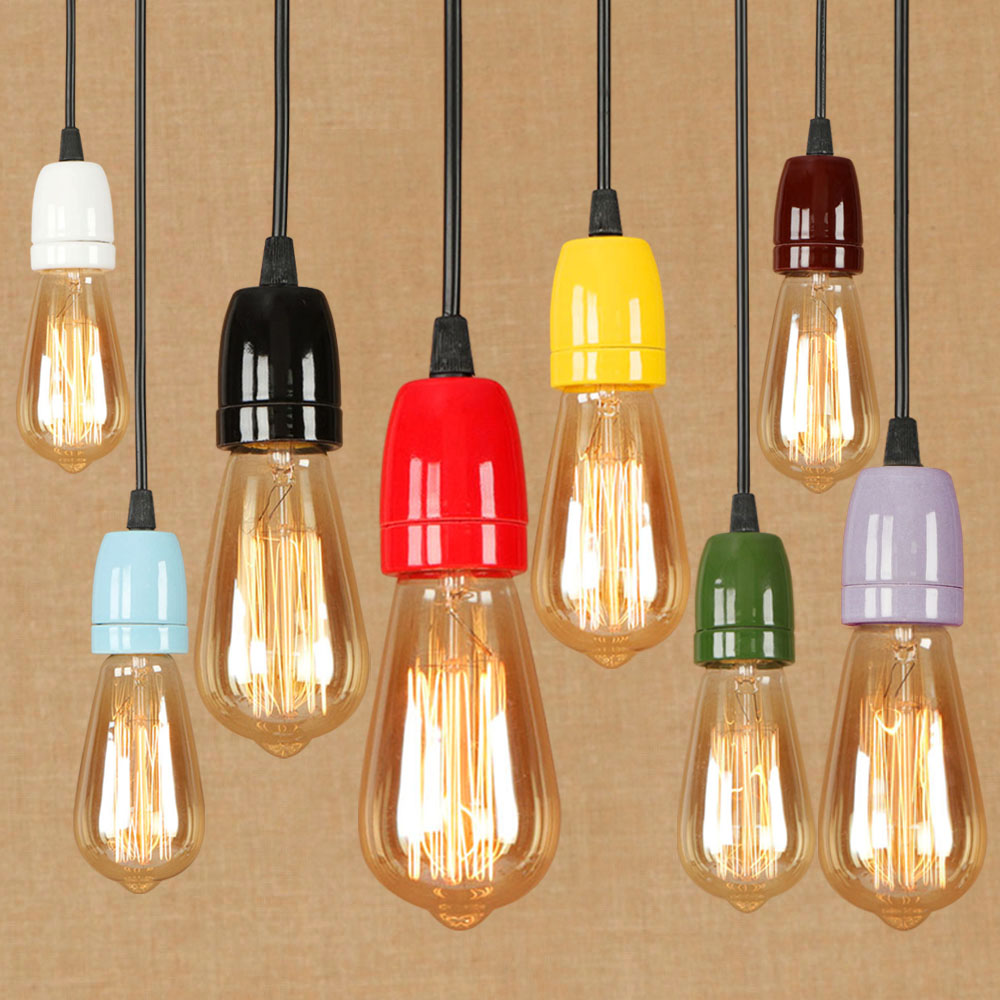 Small Simple Chandelier Us 23 8 15 Off Fashion Colorful Nordic Single Head Pendent Lamp E27 Ceramic Small Simple Design Chandelier Cafe Restaurant Bedroom Decoration In