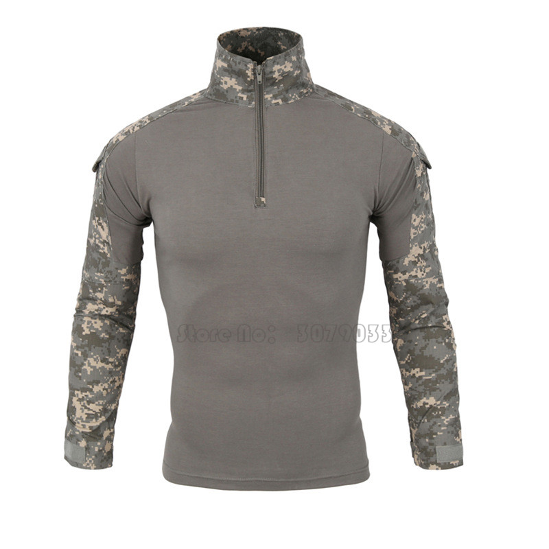 Orologi E Gioielli Han Wild Gear Camouflage Army T-shirt Men Ru Soldiers Combat Tactical T Shirt Military Force Multicam Camo Long Sleeve T Shirt