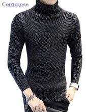Coromose Winter Dicke Warme Kaschmir-pullover Männer Rollkragenpullover Männer Marke Herren Slim Fit Pullover Pullover Männer Strickwaren doppelkragen