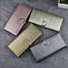 Fashion Sequin Genuine Leather Women Wallet 2019 Female Long Wallets Purse Ladies Clutch Real Leather Wallet portefeuille femme