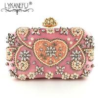 678464111 LYKANEFU Luxury Banquet Party Evening Bag Box Women Bag Artificial Diamond  Purse Day Clutches Ladies Bride