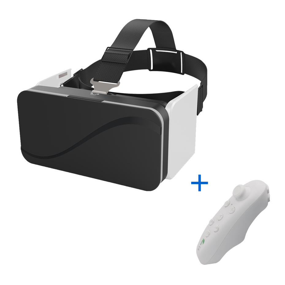 VR Glasses Virtual Reality Goggles 3d Glasses Google Cardboard VR Headset for 4.7-6.0 Smartphone Bluetooth Controllers Gamepad hot sale google cardboard vr case 5plus pk bobovr z4 vr box 2 0 vr virtual reality 3d glasses wireless bluetooth mouse gamepad