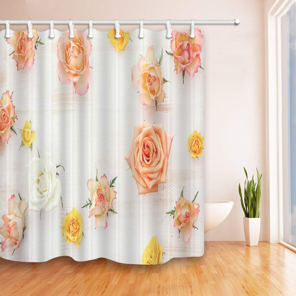 Flowers Decor Colourful Pink Yellow White Rose Shower