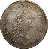 United States Of America 1 Đô La Chảy Tóc Dollar 90% Bạc 1794 Chất Lượng Cao Chỉ Có Một