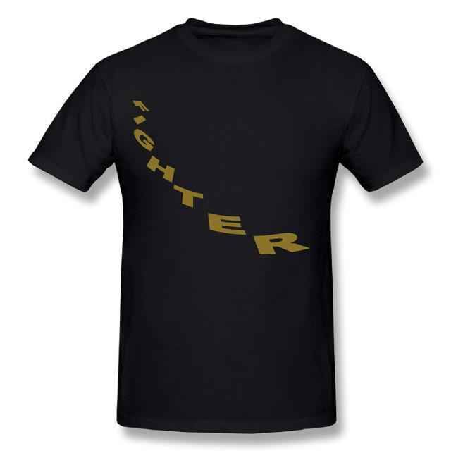 New Mens High Quality Cotton Fighter DIY T-Shirts O-Neck Short Sleeve Boy T Shirt,Big Size S-5XL
