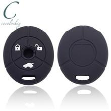 Cocolockey силиконовый чехол для ключа автомобиля подходит для MG Rover 25 35 ZT 3 кнопки дистанционного ключа резиновый чехол для ключа автомобиля Стайлинг автомобиля