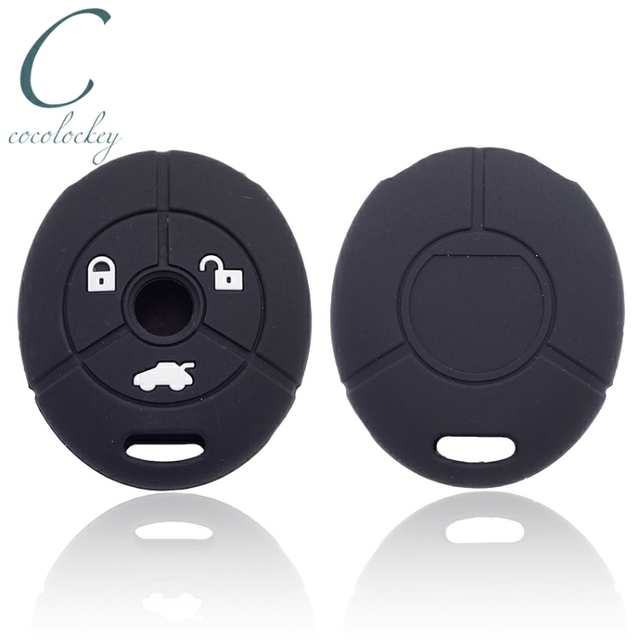 Cocolockey Silicone Car Key Cover Fit for MG Rover 25 35 ZT 3Buttons Remote Key Rubber Car Key Case Car Styling