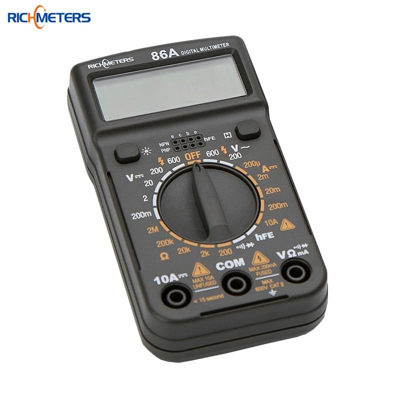 86A Pocket Size Mini Digital Multimeter Backlight AC/DC Ammeter Voltmeter Ohm Electrical Tester Portable 1999 counts Meter mini multimeter holdpeak hp 36c ad dc manual range digital multimeter meter portable digital multimeter