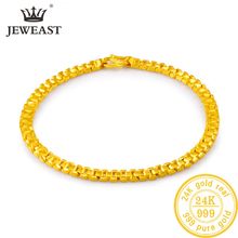 24K Pure Gold Bracelet Real 999 Solid Gold Bangle Upscale Beautiful  Romantic Trendy Classic Jewelry Hot Sell New 2020
