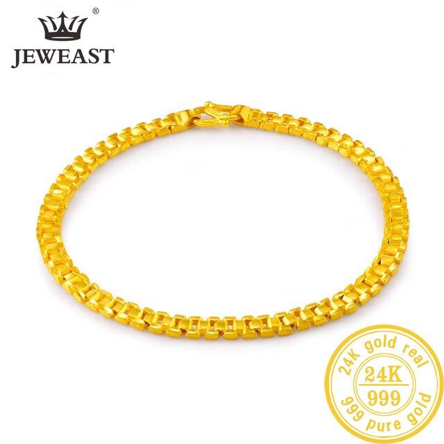 24K saf altın bilezik gerçek 999 katı altın bileklik lüks güzel romantik moda klasik takı sıcak satış yeni 2020
