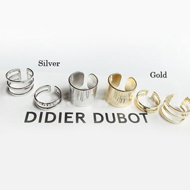 1 Set/3 Pcs Punk Gold Silver Rings 1