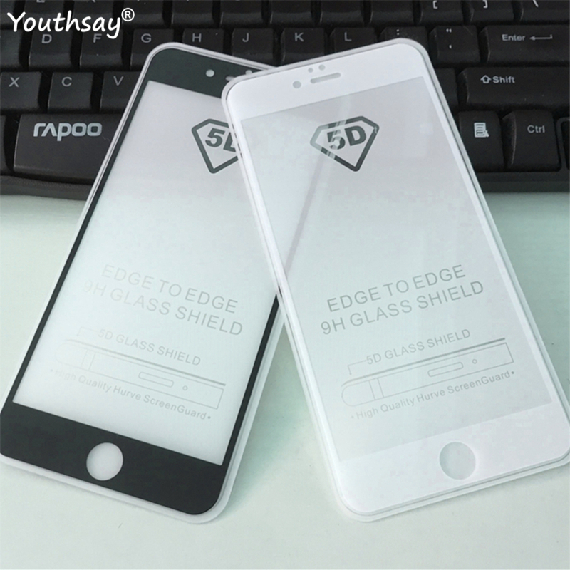 5D Full Glue Tempered Glass For iPhone 6s 6 Screen Protector For iPhone 6s Protective Film For iPhone 6 6s Full Glue Glass Film image