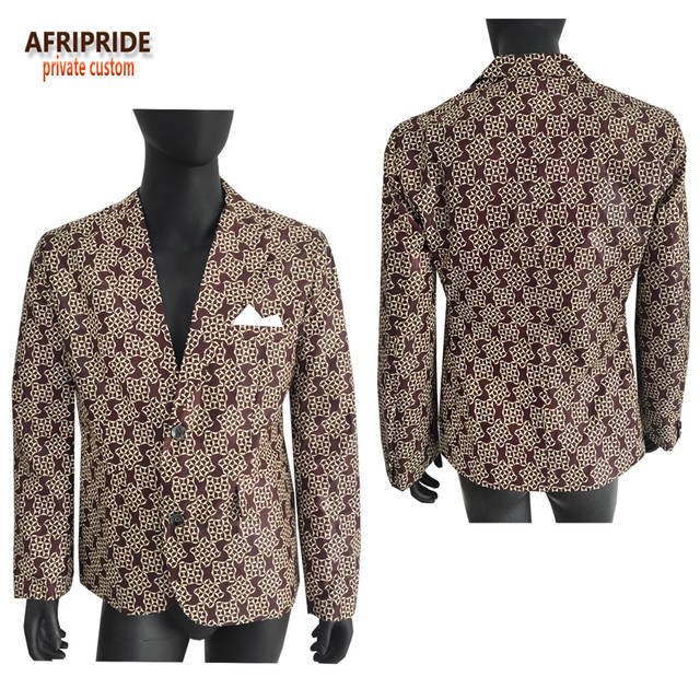 placeholder Afripride spring fashion suit jacket men s coat african  traditional clothes print wax Bazin Riche plus size 23a8578842ad