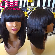 Glueless Full Lace Human Hair Wigs For Black Women Brazilian Bob Wigs Human Hair Lace Front Wigs With Baby Hair Full Lace Wigs