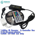 5M RGB Waterproof Led Strip light 5050 60LED/M DC12V LED Light +44 Keys Remote Controller+12V 6A Power Adapter set
