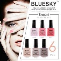 UV Gel Bluesky Brand Blue Sky Shellac Color 80519 LED Lamp Nails Price