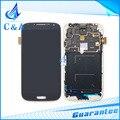 Запасные части для samsung s4 жк-дисплей для galaxy i9500 i9505 i337 дисплей с сенсорный дигитайзер рамка 1 шт. бесплатная доставка