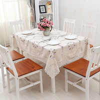 Hot Sale Cotton Pastoral Style Table Cloth Home Party Coffee Table Cloth Restaurant Hotel Tablecloths Hight