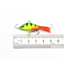 5 Pieces Vertical Jigging Lead Fish Bait 5cm 7.4g Winter Ice Fishing Lure Fishing Hook Ice Balance Fish Jigs