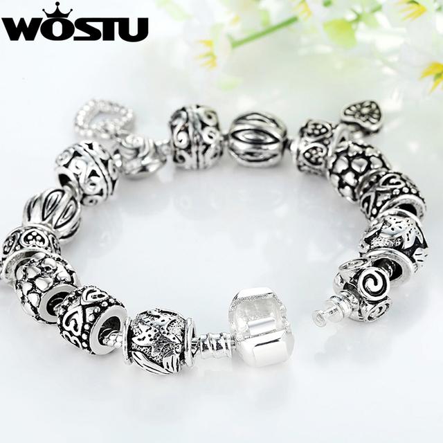 Pandora Style Charm bracelet including 10 Charms