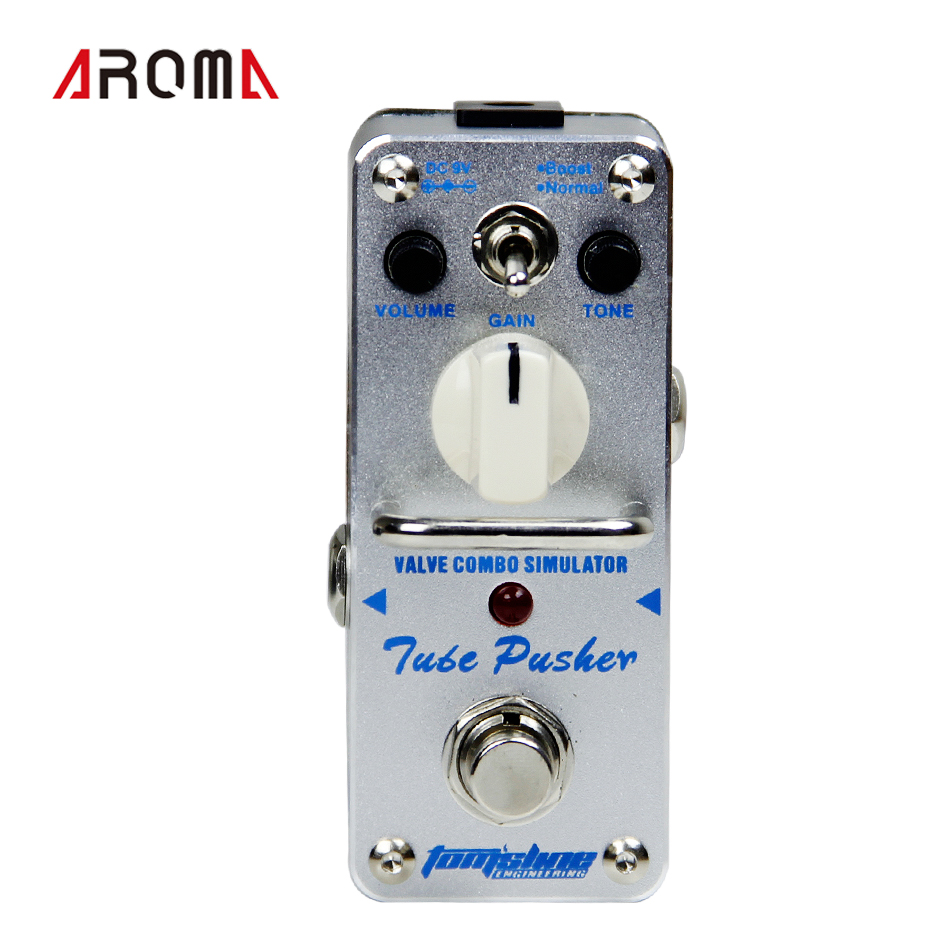 AROMA ATP-3 TUBE PUSHER Vlave combo simulator - overdrive Mini Analogue Effect True Bypass promotion aroma aas 3 ac stage acoustic guitar simulator mini analogue effect true bypass with tunner and 1guitar connector