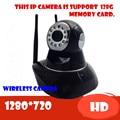 Беспроводная ip-камера видеонаблюдения видеорегистратор система wi-fi pt аудио поддержка sd карты для дома P2P Onvif видеонаблюдения 720 P HD Мега Сигнализации