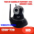 wireless ip camera surveillance video recorder system wifi pt audio support sd card for home  Onvif cctv 720P HD  Mega P2P Alarm