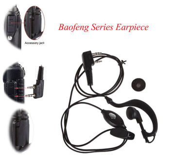 2 PIN Fone de Ouvido Fone de Ouvido PTT com Microfone Walkie Talkie Gancho de Orelha Interphone Fone de Ouvido para BAOFENG UV5R Plus BF-888S UM 1