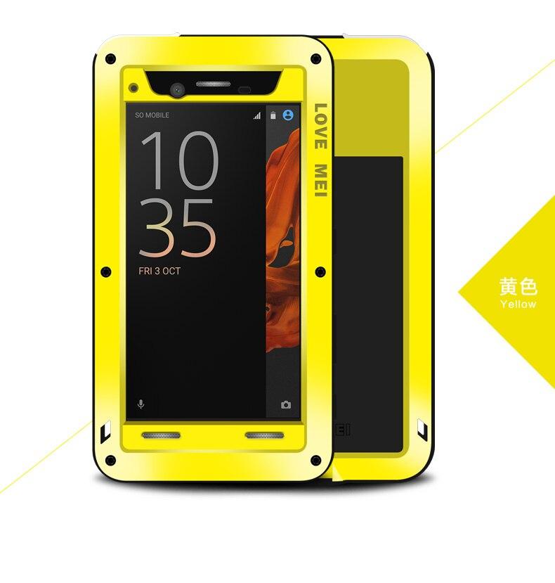 LOVEMEI pour Sony Xperia XZ housse de protection extrême antichoc Dropproof aluminium métal coque de téléphone pour Xperia XZ Dual F8332 couverture arrière