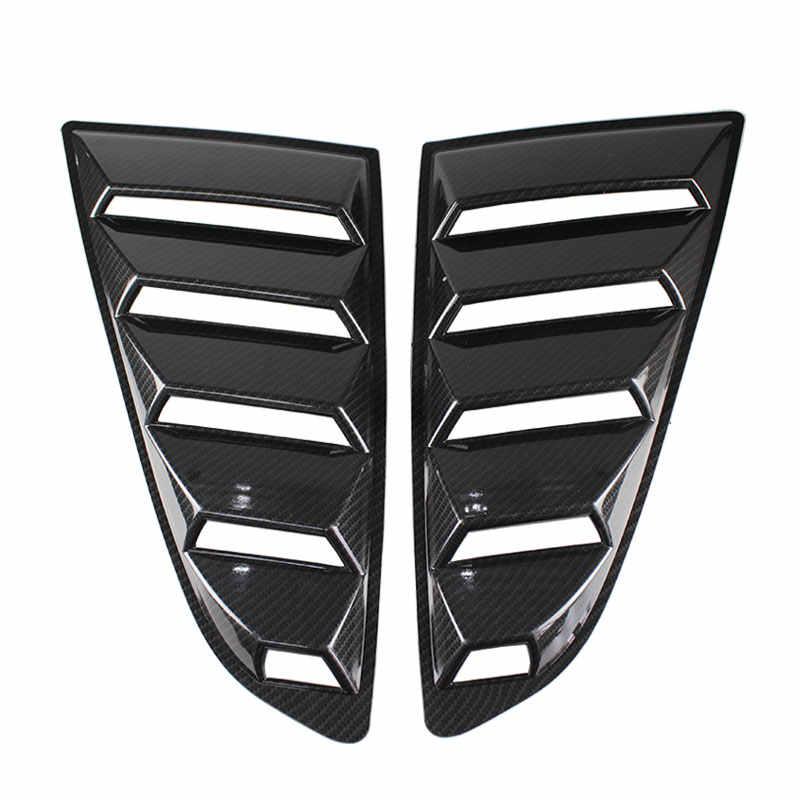 RASTP-1 ПАРА углеродного волокна 1/4 четверть боковое окно жалюзи колпак воздухозаборника вентиляционное отверстие для Ford Mustang автомобиля стикер RS-LKT021