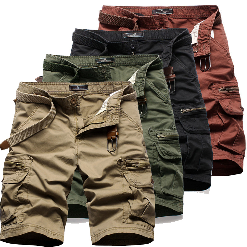 Summer Men's Tactical Military Shorts Outdoor Male Sports climbing Overalls Cargo Straight Loose Beach Short Trousers Bottoms camouflage multi pocket loose fit straight leg zipper fly cargo shorts for men