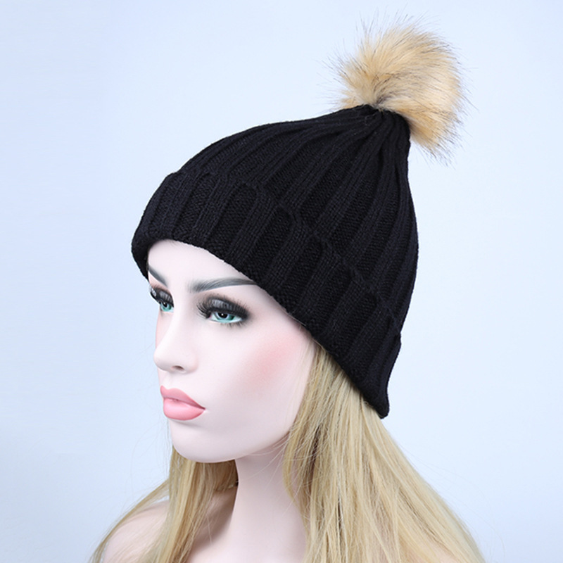 2017 Fashion Cap Autumn And Winter Soild Wool Hat hats for Women Keep Warm Knitting Hat Hair Bulb Volume Caps gorro Multi color wuhaobo the new arrival of the cashmere knitting wool ladies hat winter warm fashion cap silver flower diamond women caps