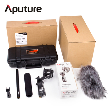Aputure Deity Kit Super Cardioid Condenser Shotgun Video Microphone Windscreen Waterproof Safe Case for Nikon Canon Camera