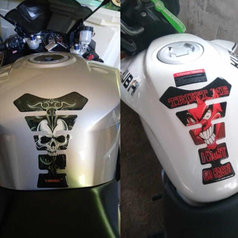 3D мотоциклетная защитная накладка на топливный бак наклейка череп Смешные украшения Наклейка аксессуары для Yamaha Honda Suzuki Kawasaki KTM