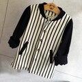 wholesale(5pcs/lot)- 2016 spring autumn  baseball striped letter  jacket  for age 2-7 child BOY girl
