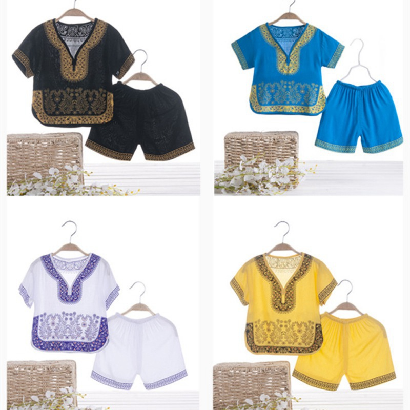 Boys Girls Children Summer Clothing Kids Clothes for Boys and Girls Chinese Style Short-sleeved Top and Short PantsBoys Girls Children Summer Clothing Kids Clothes for Boys and Girls Chinese Style Short-sleeved Top and Short Pants