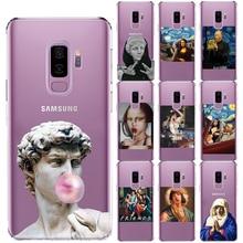 Mona Lisa Moskado suave cubierta TPU para Samsung Galaxy S5 Mini S6 S7 borde S8 S9 S10 más S10 5G E Lite S10E del Coque