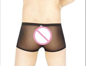 Image 2 - Cockcon cueca masculina, cueca transparente, bolsa para arma de ovo, cintura baixa, como boxer, shorts