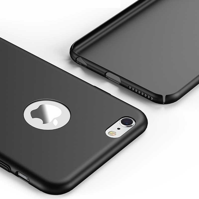 Полное покрытие Премиум супер тонкий защитный чехол Fundas для iPhone 5S 6S 6 7 8 Plus SE 5 S X Жесткий ПК шелковистый сенсорный тонкий чехол для телефона