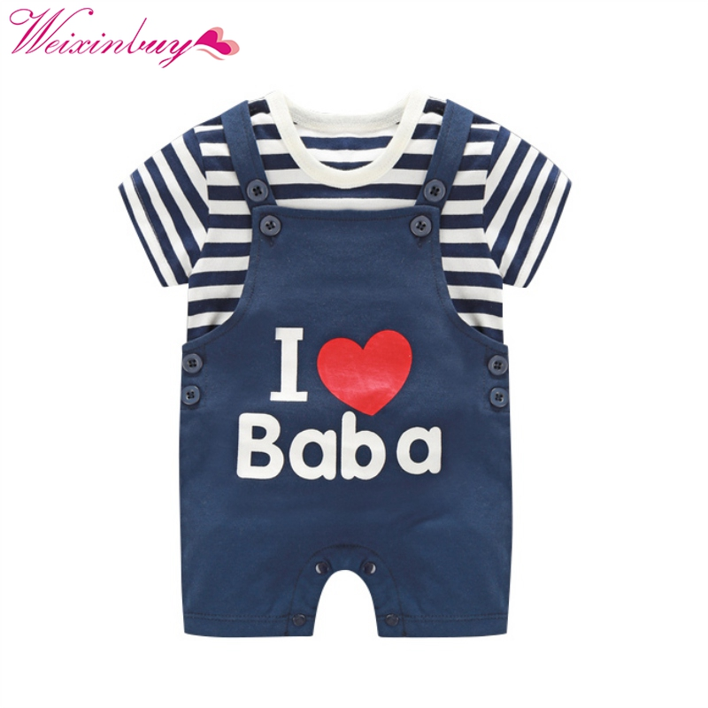 Cute Toddler Kids Baby Boys Outfits Clothes T-shirt Tops+Braces Long Pants 2PCS Set Spring baby girls boy pants