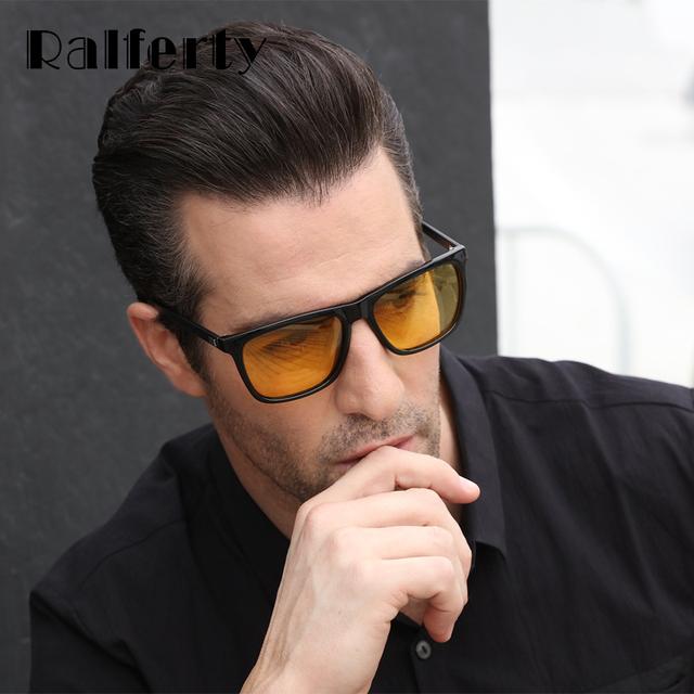 Ralferty Night Vision Glasses Male Anti-glare HD Polarized Sunglasses Men Women Driving Glasses Yellow Driver Eyewear K7031