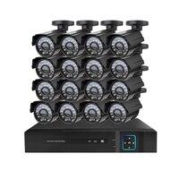 PUAroom 720 P 16CH видео системы безопасности DVR с 16x HD 1280TVL Indoor/Outdoor всепогодный камеры видеонаблюдения